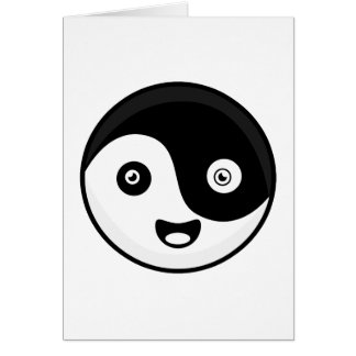Kawaii Yin Yang Cartão Comemorativo