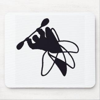 Kayak um círculo mouse pads