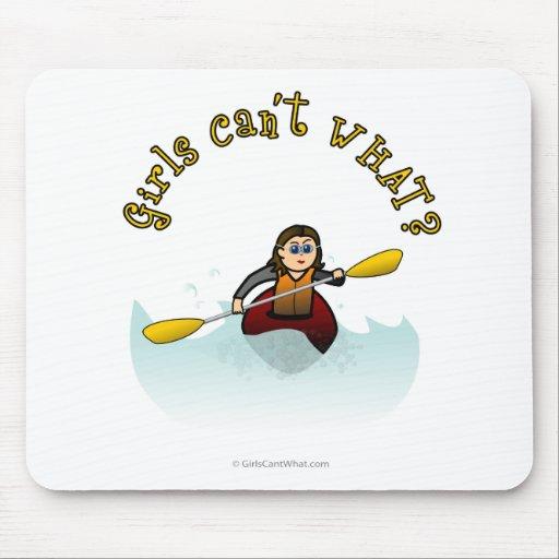 Kayaker claro da mulher mousepad