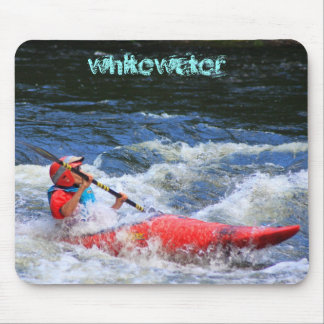 Kayaker de Whitewater Mouse Pad