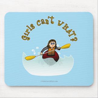 Kayaker fêmea claro mouse pad