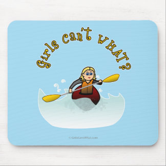 Kayaker fêmea louro mousepad