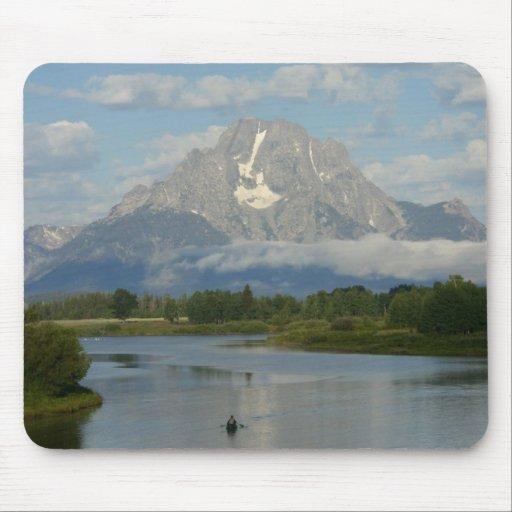 Kayaking em Teton grande Mousepad