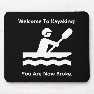 Kayaking quebrou mouse pad