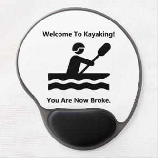 Kayaking quebrou mouse pad de gel