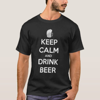 KEEP CALM AND DRINK BEER CAMISETA