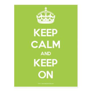 Keep-Calm-And-Keep-On.pdf Cartão Postal