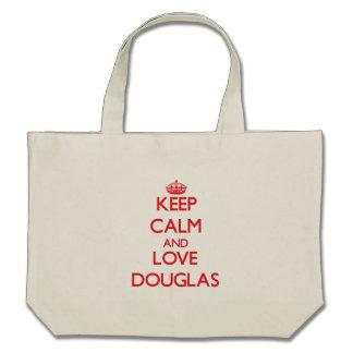 Keep calm and love Douglas Tote Bags