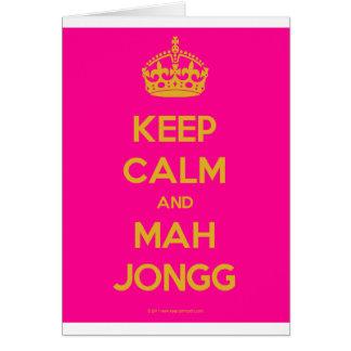 Keep-Calm-And-Mah-Jongg.pdf Cartão Comemorativo
