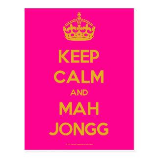 Keep-Calm-And-Mah-Jongg.pdf Cartão Postal
