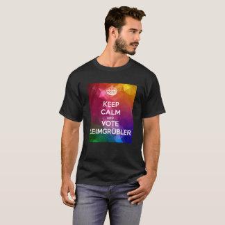 Keep Calm and VOTE Leimgrübler (Abstract edição) Camiseta