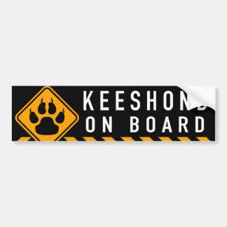 Keeshond a bordo adesivo para carro