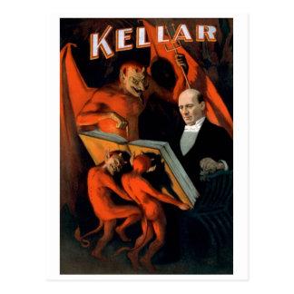 """Kellar - """"cartão das instruções do diabo"""" cartão postal"""