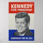 Kennedy para o presidente poster
