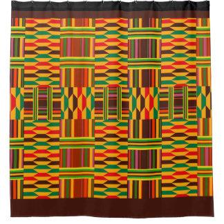 Kente colorido cortina para chuveiro