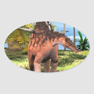 Kentrosaurus do dinossauro adesivos ovais