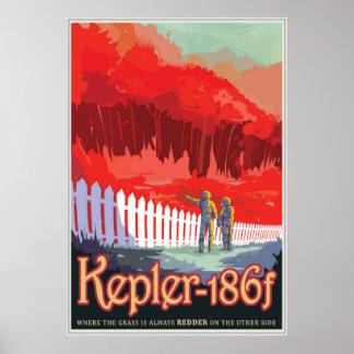Kepler-186 f - Onde a grama é sempre mais vermelha Pôster