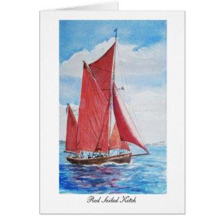 Ketch navegado vermelho: Cartão