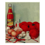 Ketchup italiano das pimentas das cebolas do tomat