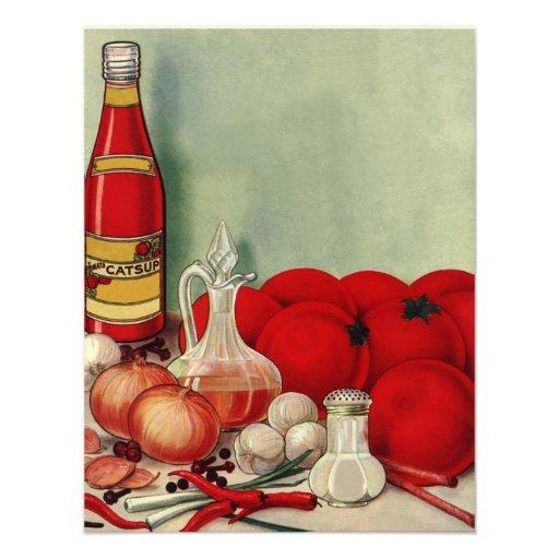 Ketchup italiano das pimentas das cebolas do tomat convites