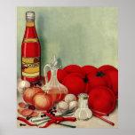 Ketchup italiano das pimentas das cebolas do tomat impressão
