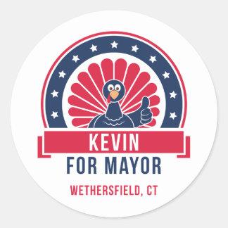 Kevin para o Mayor da etiqueta de Wethersfield