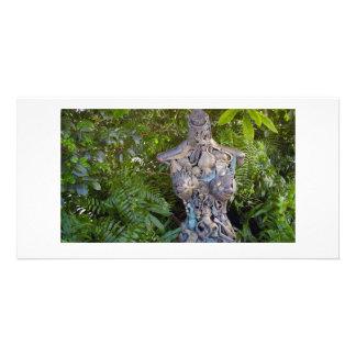 Key West jardina cartão com fotos da escultura