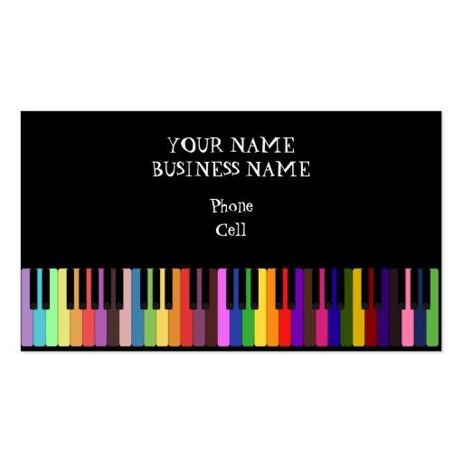 Keybaord - cartão de indústria musical cartões de visitas