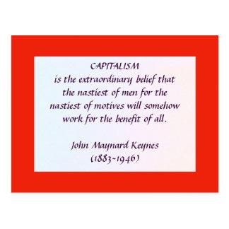 KEYNES no cartão do CAPITALISMO