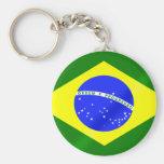Keyring brasileiro da bandeira para brasileiros no chaveiro
