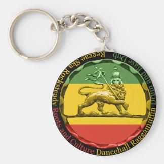 Keyring do leão da reggae de Rasta Chaveiro