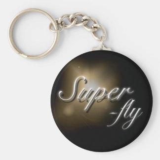 "keyring do slogan da ""Super-mosca"" Chaveiro"