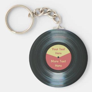 Keyring gravado vermelho e amarelo da música preta chaveiro