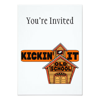 Kickin ele velha escola convite 12.7 x 17.78cm