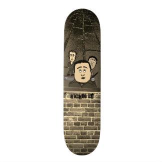 Kickin patinador brota desenhos animados shape de skate 18,1cm