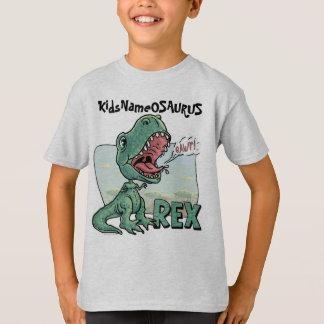 KidsNameOSAURUS Rex edita com nome do seu miúdo! Camiseta
