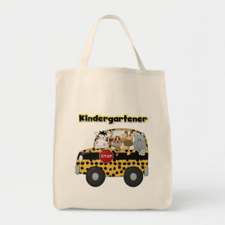 Kindergartener dos animais do jardim zoológico bolsa tote