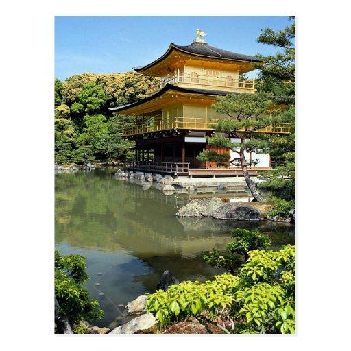 Kinkakuji, o pavilhão dourado, Kyoto, Japão Cartão Postal