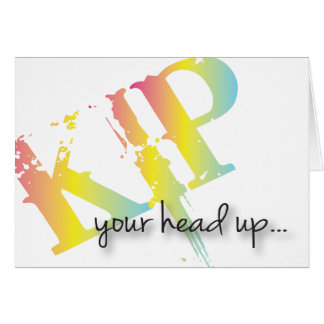 Kip sua cabeça obtem acima o acrd bom cartão comemorativo