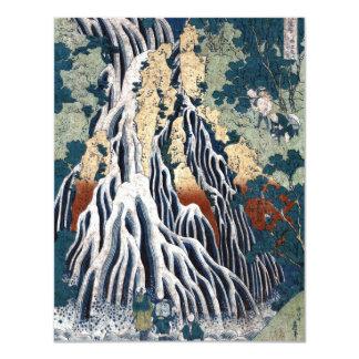 Kirifuri cai na montagem Kurokami em Shimotsuke Convite 10.79 X 13.97cm