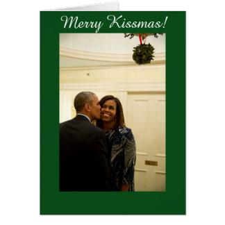 Kissmas alegre personalizado - cartão