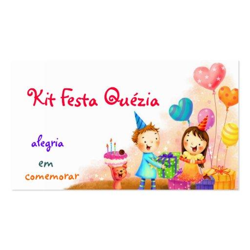 Kit festa cartoes de visitas