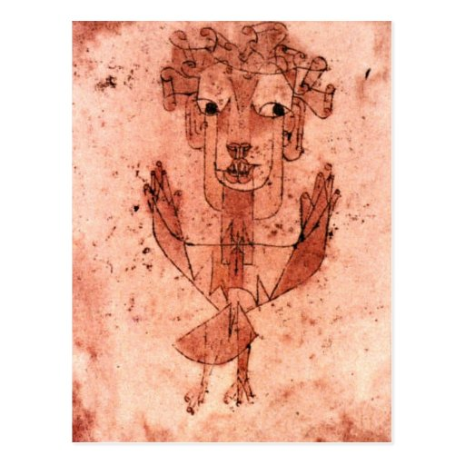 Klee - anjo novo (Angelus Novus) Cartoes Postais