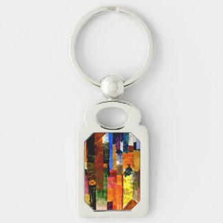 Klee - antes da cidade chaveiro retangular cor prata