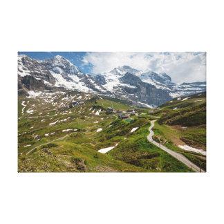 Kleine Scheidegg suiça - lona Impressão De Canvas Envolvida
