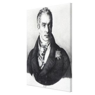 Klemens Wenzel Nepomuk Lothar Impressão De Canvas Envolvida