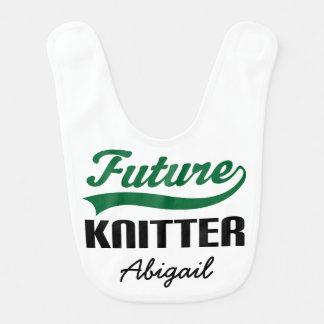 Knitter futuro babador personalizado do bebê