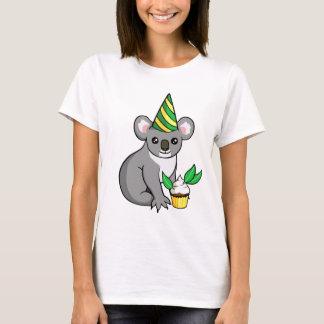 Koala bonito da festa de aniversário com camisa do