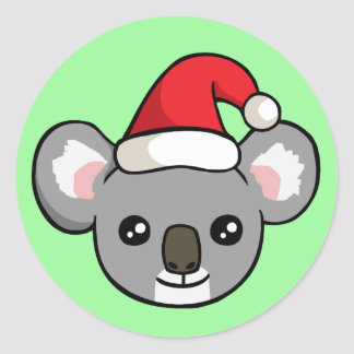 Koala bonito do Natal em etiquetas do desenho do