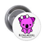 Koala Girl Bóton Redondo 5.08cm